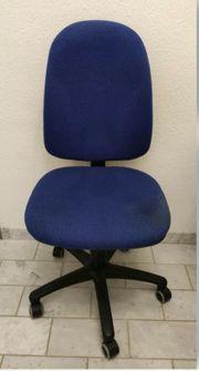Büro Stuhl Sitz Drehstuhl blau