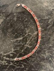 Armband Türkische Fahne 925 Silber