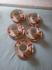 fünf teiliges kaffeservis
