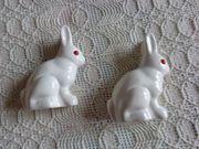 Deko - Hasen 2 Stück weiß