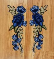 Aufbügel-kleben Blumen Applikationen Sticker Rosen