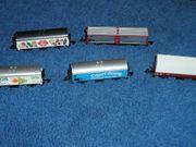 Märklin Mini-Club 5 verschiedene Güterwagen
