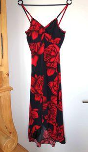 NEU schönes schwarzrotes Kleid vorne