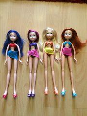 Verschiedene Winx Puppen