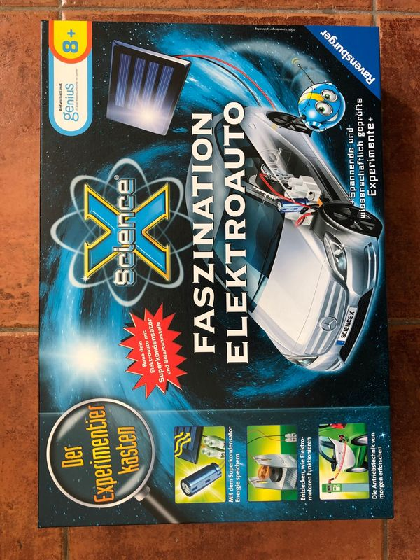 NEU ScienceX-Faszination Elektroauto Experimentierkasten