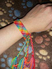 Regenbogen Armband Flash Bunt Neon