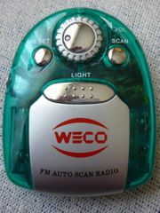 Weco Tragbares Mini Radio FM
