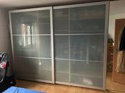 IKEA Pax Schiebetürpaar Alu-Rahmen Frostglas
