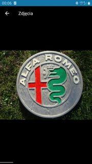 Alfa Romeo Holzschild