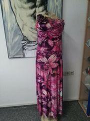 Kleid Sommerkleid Maxikleid Schulterfrei Gr