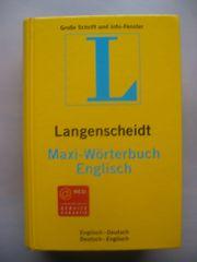 Langenscheidt Maxi-Wörterbuch Englisch