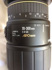 Sigma Objektiv 70-300 mm 1