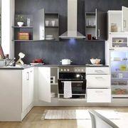 Küchenleerblock in Anthrazit Weiss