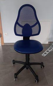 Kinder Schreibtisch Stuhl blau