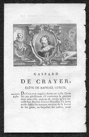 Crayer-Caspard de Crayer-Maler-Originalkupferstich