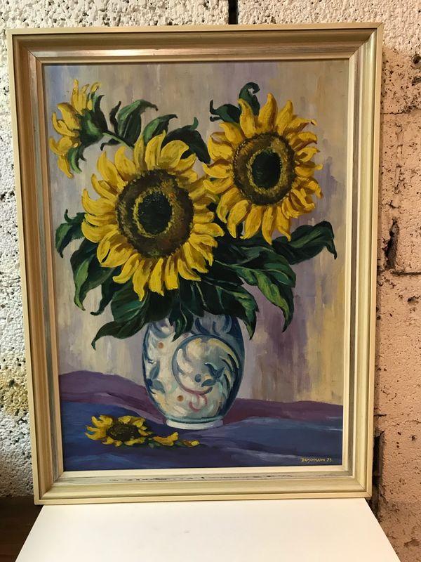 Ölgemälde Sonnenblumen Buschmann 59