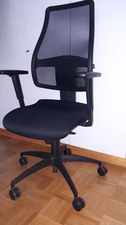 TopStar Schreibtisch Drehstuhl schwarz Bandscheibensitz