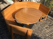 Eckbank und ovaler Tisch Eiche