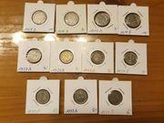 4 Stück 25 Pfennig Kaiserreich