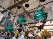 3 gleiche Deckenlampen grün Hängelampe