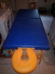 Massageliege Behandlungsliege blau faltbar