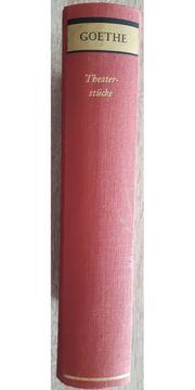 Goethe - Theaterstücke Büchergilde Gutenberg 1956