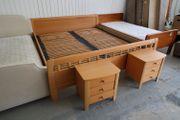 Doppelbett mit Nachttischen - LD05055