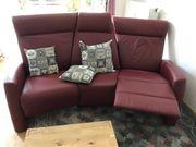 Sofa aus Echtleder mit Relaxfunktion -
