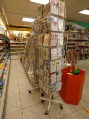 Kartendrehständer rollbar - Verkauf Ladeneinrichtung wg