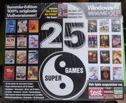 25 Super Games - PC-Spiele bis Win