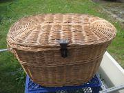 Weidenkorb mit Deckel Holzkorb Korb