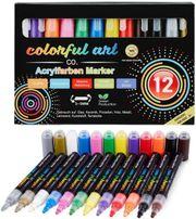 Acryl Farbstifte -12 Farben für