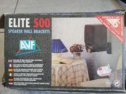 2 Wandhalterungen schwarz für Lautsprecherboxen