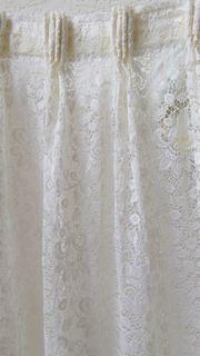 Wohnzimmer- Vorhänge cremeweiß 7 60