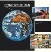 4 farbige Ansichtskarten von Frankfurt