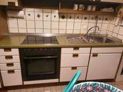 Einbauküche mit Herd Kühlschrank Tiefkühltruhe