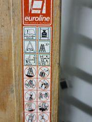 Holzleiter 12 Sprossen Dopelleiter 3