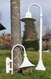 4 Gartenlampen