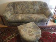 Sofa 3-Sitzer mit Hocker Couch