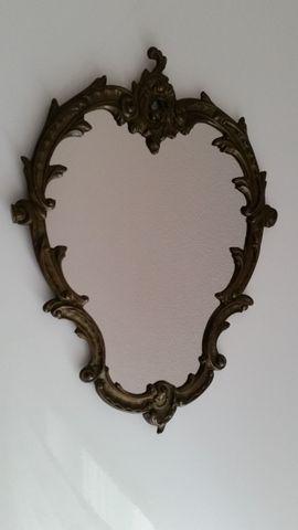 Kosmetik und Schönheit - Wandspiegel Messing oval 31x43 cm