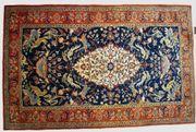 Orientteppich Teheran mit Seide antik