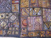 indischer Wandbehang Stickerei vorwiegend gold