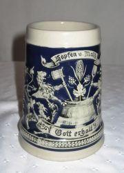 Bierkrüge und Schnapskrügl Steingut und