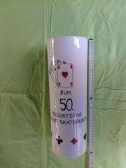 Vase mit Skat Motiv 50