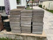 Beton Gehweg- Terassenplatten - Anthrazit
