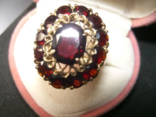 eleganter Granat Ring