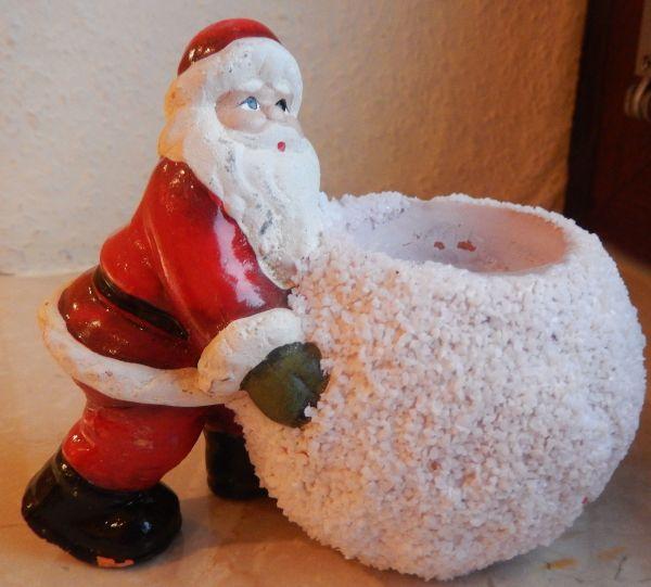 Weihnachtsmann-Kerzenhalter Ton bemalt Kugel-Kerzenhalter