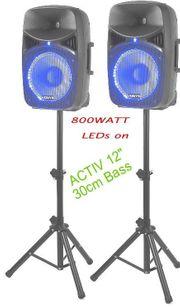 Aktive Kompakte PA-DJ-Home-Set mit 800WATTpeak