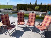 Garten Stühle Klappstühle mit Bezug