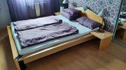 Echtholz-Designbett im Futonstil Matratze